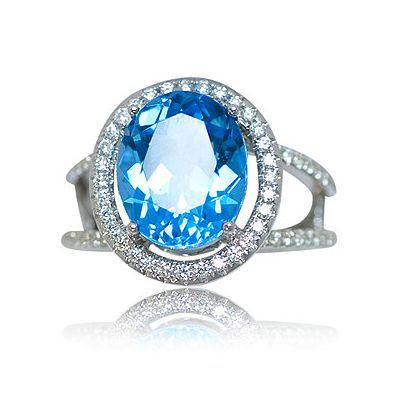 Check out one additional attractive color gem stone ring - Parris Jewelers #finejewelry