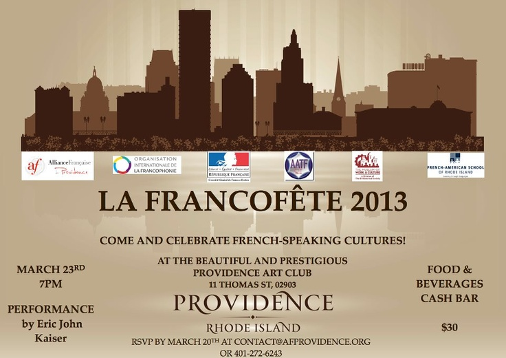 Come celebrate French during the Francophonie events!