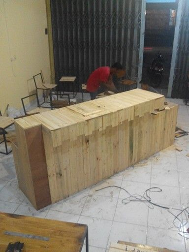 Cassier table desain by me and work by mr. Sarjiman.