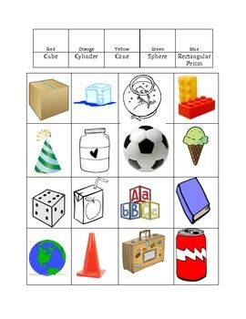 3D Shape Assessment/Graphing Activity