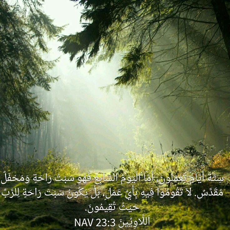 Leviticus 23:3 Arabic