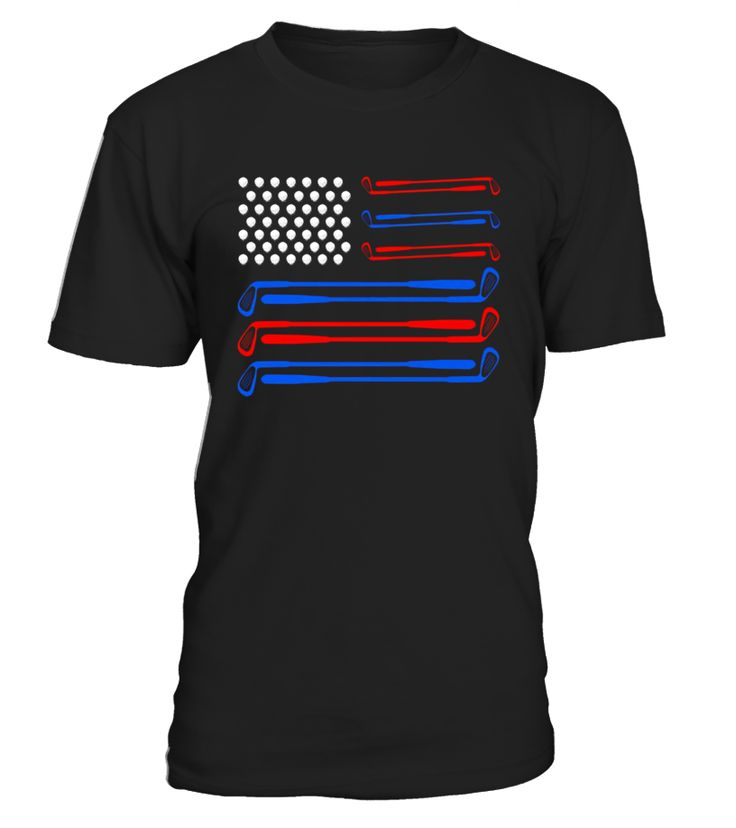 Golf Flag Shirt Golfing Ball Club 4th of July Fathers Day  Funny Veterans Day T-shirt, Best Veterans Day T-shirt