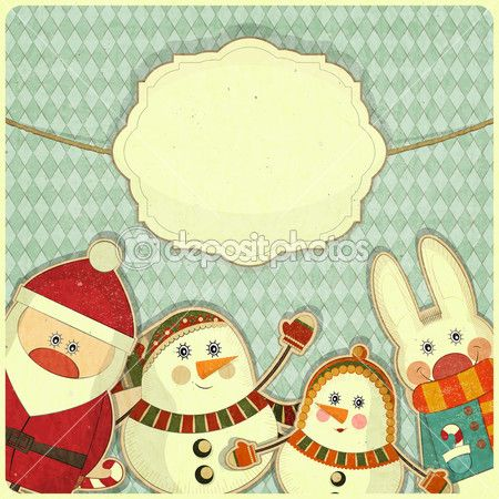 ретро дизайн Рождество и новый год — Стоковая иллюстрация #13611626
