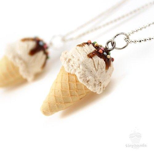 Gioielli di cibo profumato alla vaniglia gelato di tinyhands