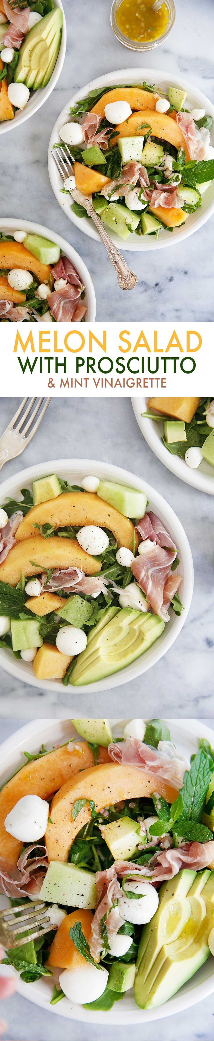 Melon and Prosciutto Salad {Grain-free, gluten-free) | Lexi's Clean Kitchen