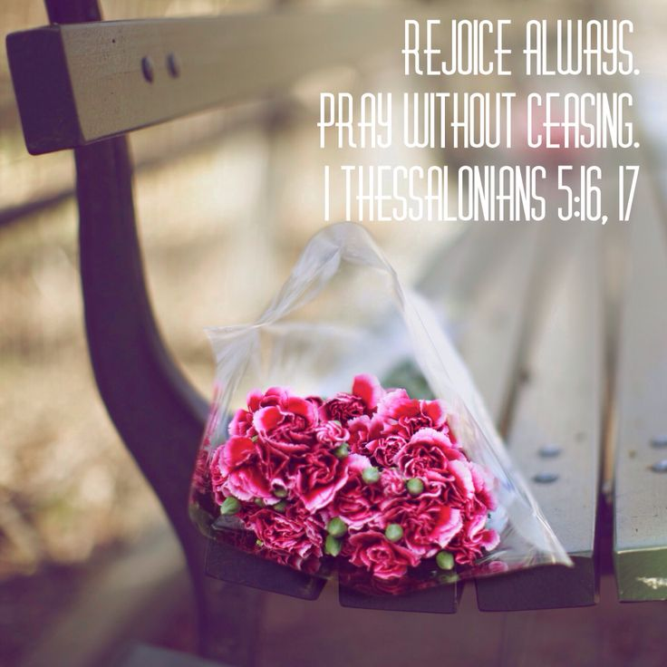 Всегда радуйтесь. Непрестанно молитесь.  Первое послание к Фессалоникийцам 5:16, 17