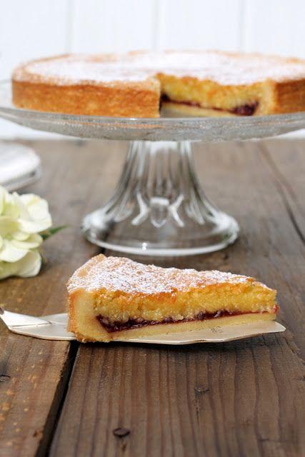 formine e mattarello: Bakewell tart alle ciliegie