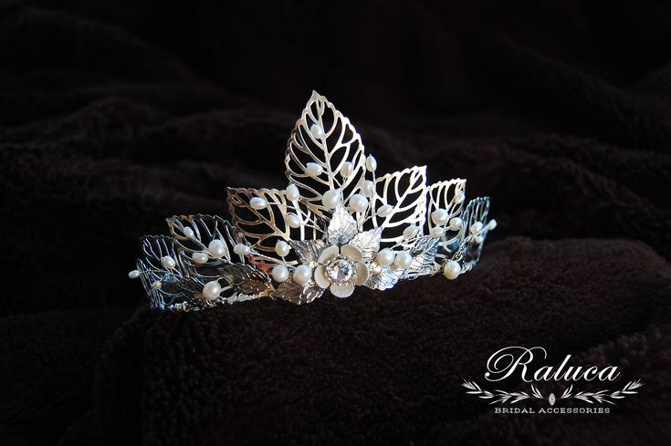 Excited to share the latest addition to my #etsy shop: Bridal Hairpiece Bridal Hair Accessory Tiara Bridal Crown Leaves and freshwater pearls Silver Bridal Headpiece http://etsy.me/2Dccf5U #weddings #accessories #silver #bridalhairpiece #bridalaccessory #hairaccessory