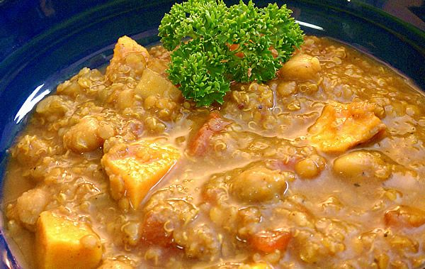 Slow cooker indian spiced chickpea quinoa stew recipe for Quinoa recipes indian