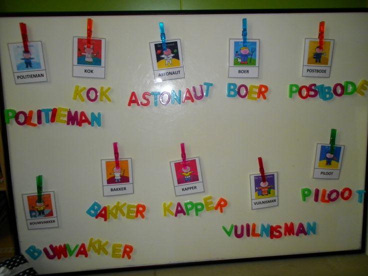 woordkaarten: beroepen van papa (prenten boeken Liesbet Slegers) *liestr*