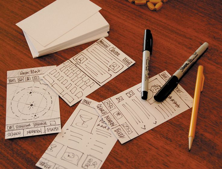 Sketching on index cards early in your design process will show you how to effectively visualize data for a small mobile screen
