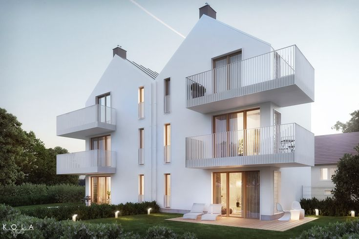 Visualization of a small, modern, minimalist residential building, backyard view - #architecturalvisualization,#architecturalvisualisation #exteriorvisualizations, #residentialarchitecture, #3dvisualization