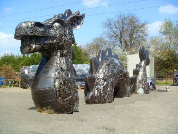 Best Bakunawa Images On Pinterest Viking Ship Fantasy - Salvaged scrap metal transformed to create graceful kinetic steampunk sculptures