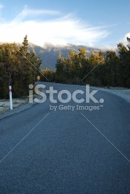 Last Light on the Road Royalty Free Stock Photo