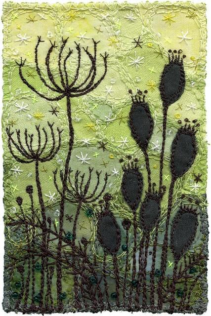 Seedpods inspiration embroidery bordados pinterest