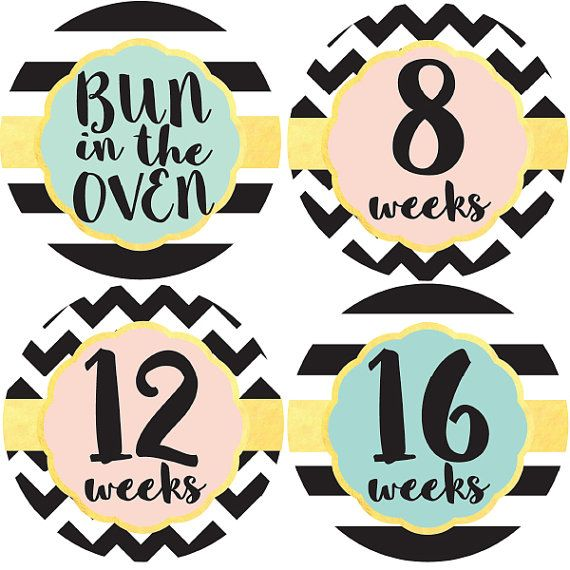 Pregnancy Stickers Maternity Stickers Week by by BabyBellyStickers