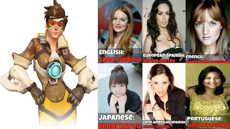 || The Many Faces Of Tracer || Voice Lines - Overwatch Voice Actors