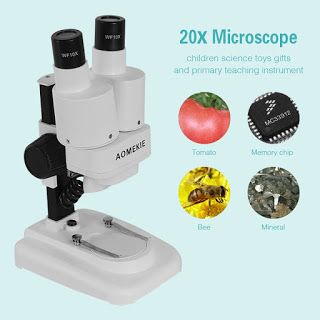 20X LED Binocular Stereo Microscope PCB Solder Tool Insect Plant Watch Students Science Educational Microscope Kids Gift AOMEKIE (32634442471)  SEE MORE  #SuperDeals