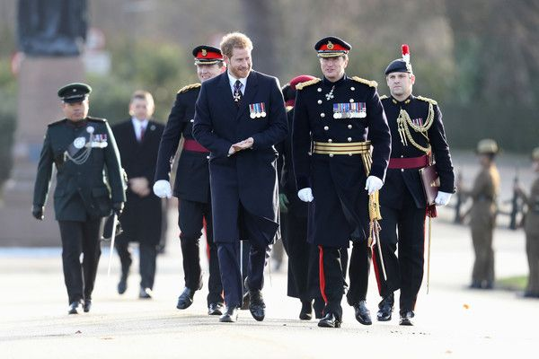 Prince Harry Photos - Prince Harry attends The Sovereign's Parade at Royal Military Academy Sandhurst on December 15, 2017 in Camberley, England. - Prince Harry Attends the Sovereign's Parade