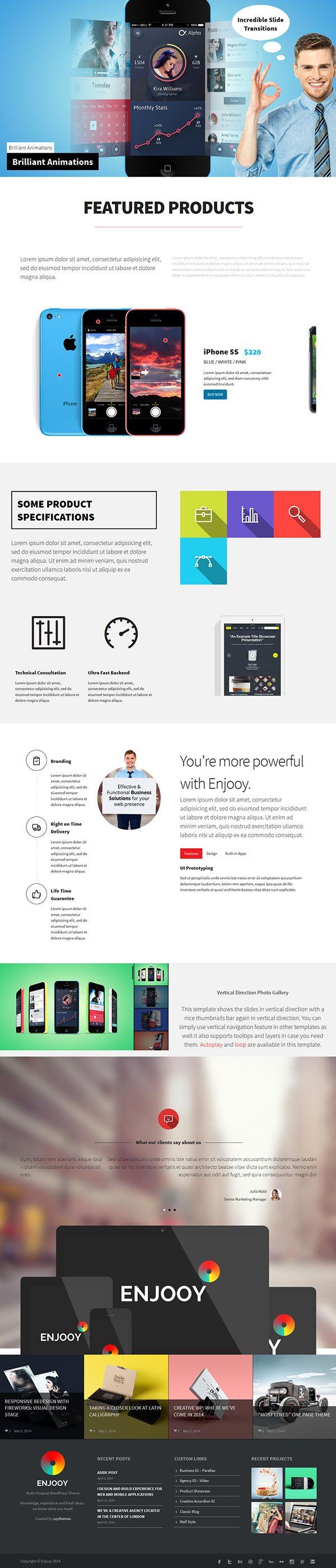Product Presentation Website Template