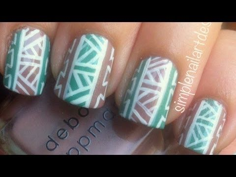 Tribal print nails! This is another tribal print design that I made recently with white outlines instead of black. There are so many ways to create tribal print nails with different lines and patterns. I wanted to show you all two that I made with different patterns. Thanks for watching!      Products Used:  -Deborah Lippmann Modern Love  -Sinful Co...