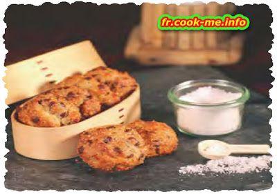 Recette traditionnelle Française: Cookies au chocolat et fleur de sel de Camargue