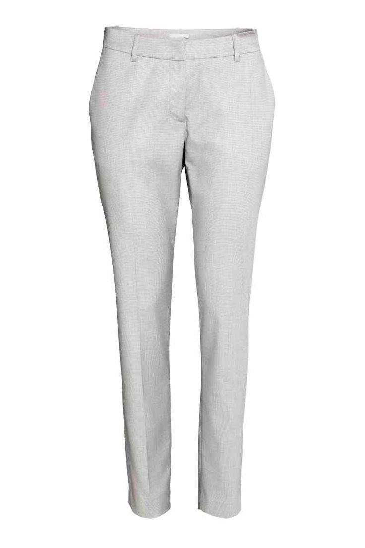 Pantalón de traje - Gris claro - MUJER   H&M ES