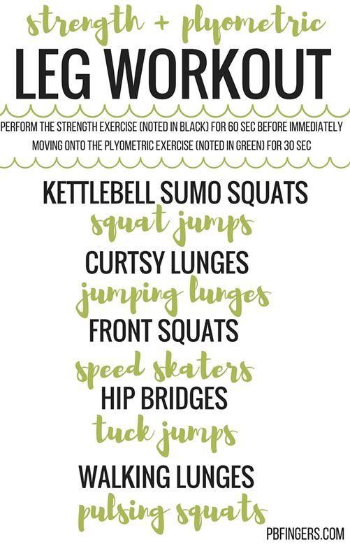 Strength + Plyometric Leg Workout | Peanut Butter Fingers | Bloglovin'