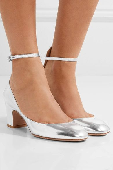 Valentino - Tango Mirrored-leather Pumps - Silver - IT