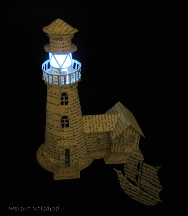 lighthouse book art - Google zoeken