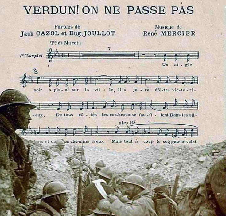 WWI; Verdun on ne passe pas.
