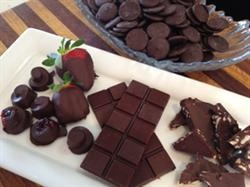 Healthy Home Made Chocolate from a couple of weeks ago. It did not last long! #chocolate #homemade #cocaowafers
