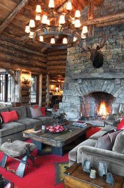 sıcak rustik stil oturma odası