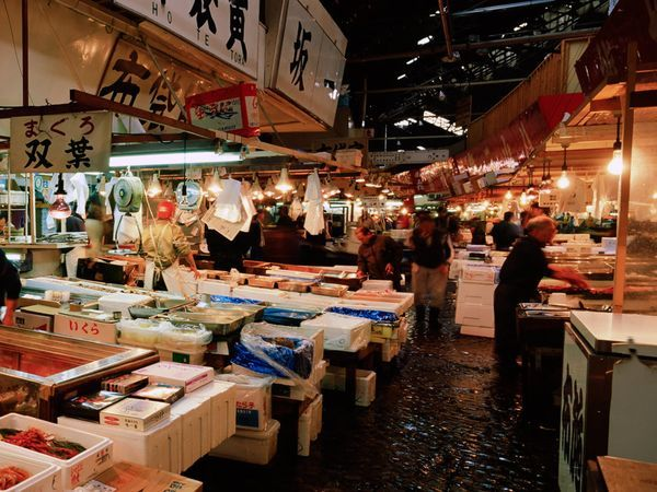 Tsukiji Market, Tokyo, Japan. Must go before the government moves it into an indoor compound!
