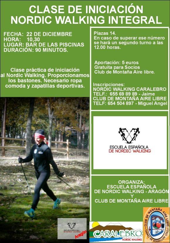 Nordic Walking Integral en la Ribera del Ebro. el dia 22 en Torres de Berrellen.