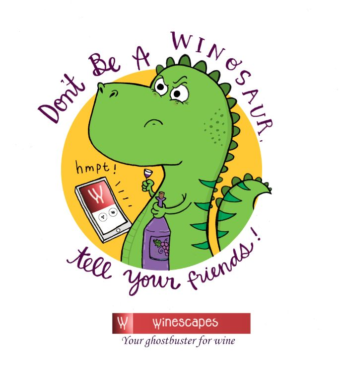 Don't be a winosaur, tell your friends! Share and spread the beauty of wine
