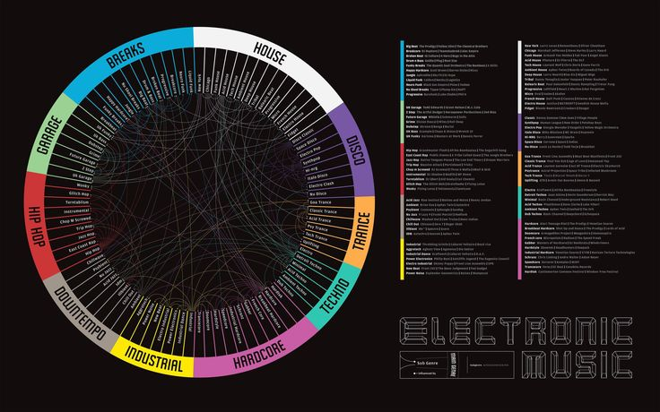 Electronic Music Infographic
