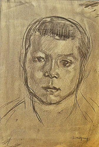 MÜTZNER SAMUEL ( 1884-1959 ) Portret de copil
