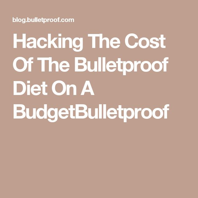 Hacking The Cost Of The Bulletproof Diet On A BudgetBulletproof