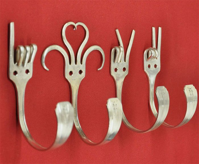 Forks Into Coat Hangers