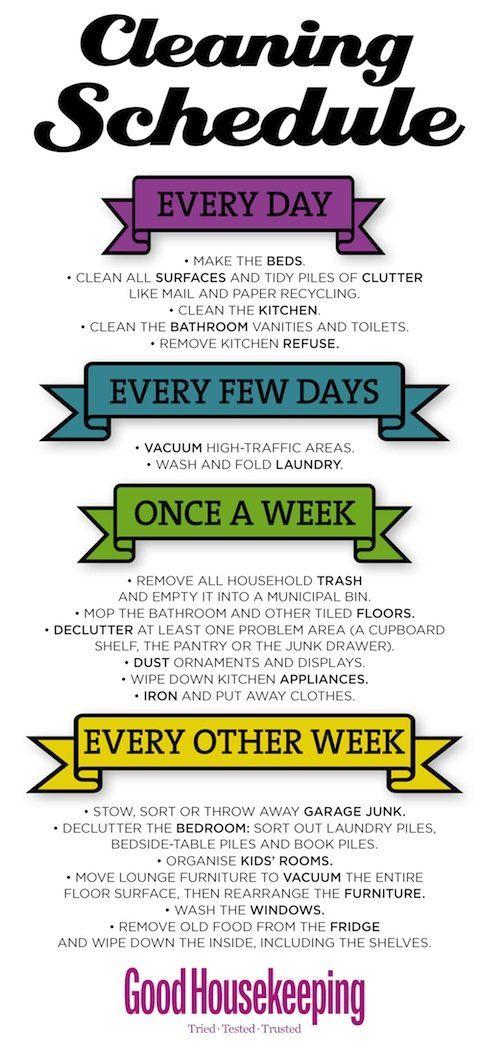 Handy Cleaning Schedule