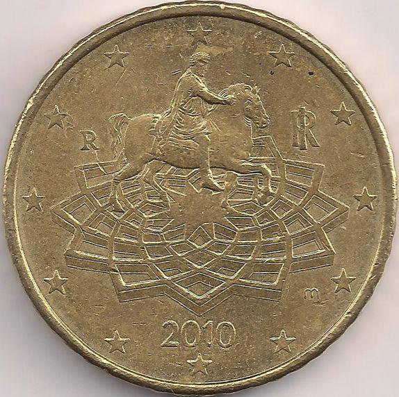 Motivseite: Münze-Europa-Südeuropa-Italien-Euro-0.50-2008-2015