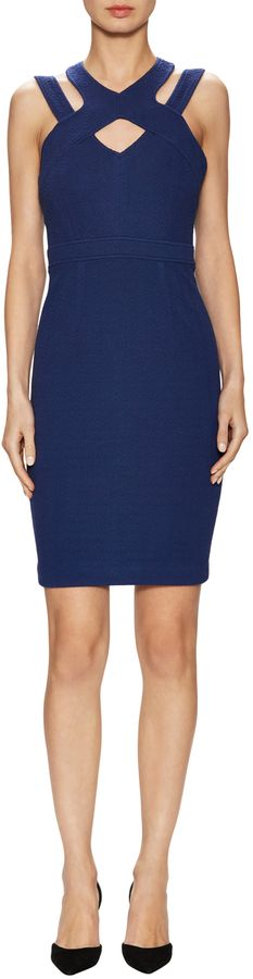 Tracy Reese Women's Textured Harness Sheath Dress