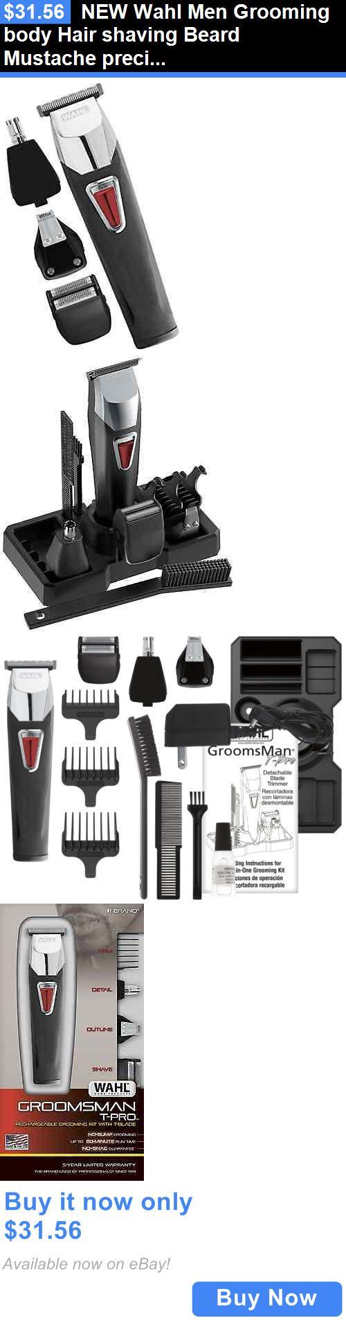 Shaving: New Wahl Men Grooming Body Hair Shaving Beard Mustache Precision Trimmer Kit BUY IT NOW ONLY: $31.56