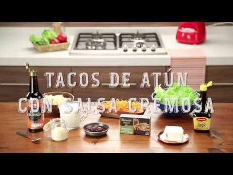 Cómo preparar Tacos de atún con salsa cremosa - Recetas Nestlé®