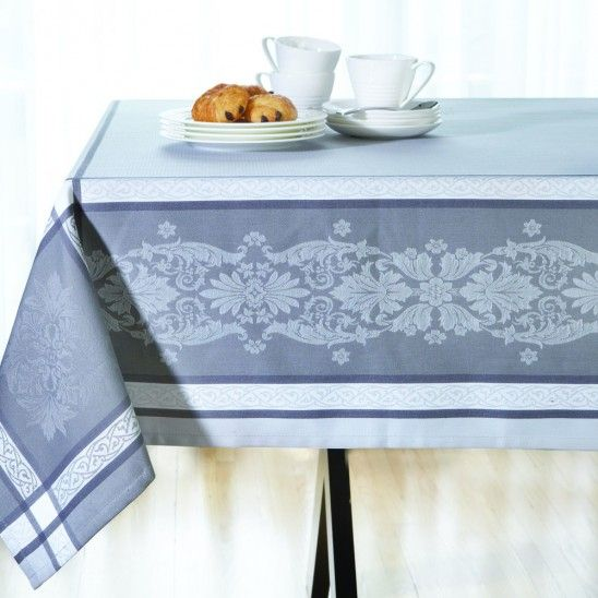 Jacquard Grey Tablecloth Collection