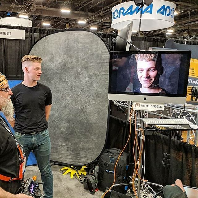 Need to mount a monitor or iMac? We have what you need at www.tethertools.com.  #Repost @interfitphoto  Watching John Cornicello work his magic in the #interfitphoto booth 237 at #wppi2018! #imac #setlife #BetterWhenYouTether