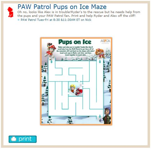 Http Www Nickjr Com Printables Paw Patrol Pups On Ice