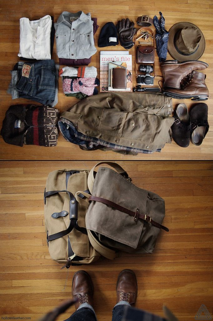 raggedglory:  Man knows how to pack. Good luck and happy trails amigo! hollowsleather:  Heading out to spend a few days someplace where the internet can't find me. This means a short delay in shipping store orders and writing email responses, but you'll have a happier leatherworker next week.