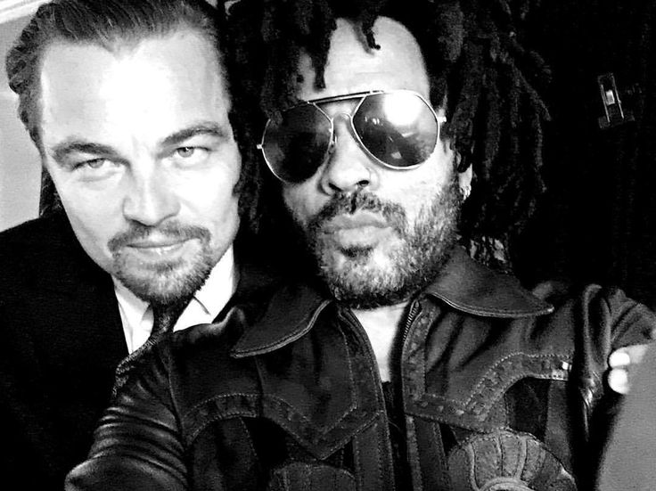 Leonardo DiCaprio and Lenny Kravitz